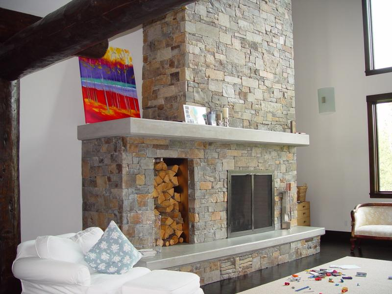 Concrete fireplace cast concrete fireplace cast for Concrete mantels and hearths